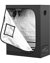 iPower 48″x24″x60″ Hydroponic Water-Resistant Grow Tent with Removable Floor Tray for Indoor Seedling Plant Growing, 2'x4′