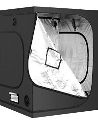 iPower GLTENTL1A Hydroponic Water-Resistant Grow Tent, 60″x60″, BLACK