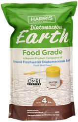 Harris Diatomaceous Earth Food Grade, 4lb with Powder Duster Included in The Bag