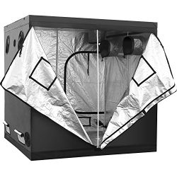 iPower GLTENTXL2 Grow Tent, 80″ x 80″ x 78″, black and silver